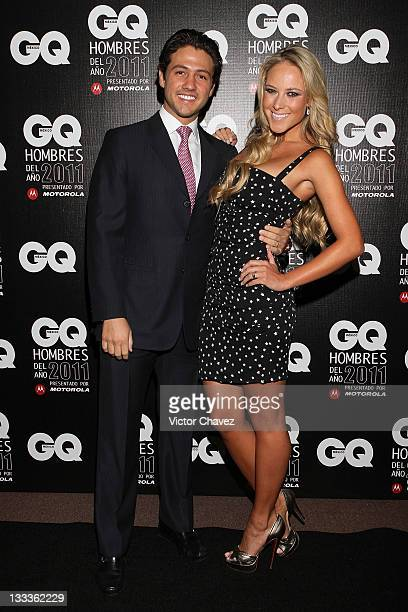 Juan Fernandez and Tv personality Vanessa Huppenkothen attend the 2011 GQ Mexico Men of the Year at the Salon Arcos Bosques on November 17 2011 in...