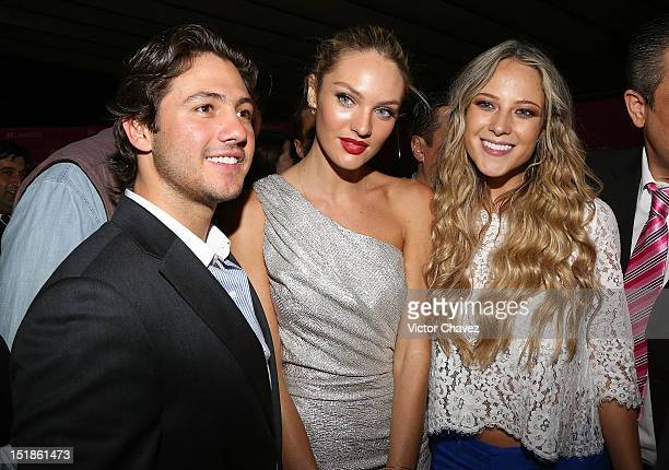 Juan Fernandez model Candice Swanepoel and TV personality Vanessa Huppenkothen attend the Liverpool Fashion Fest Autumn/Winter 2012 after party at...