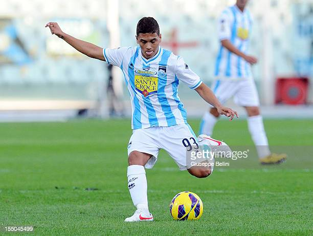 Juan Fernando Quintero of Pescara in action during the Serie A match between Pescara and Atalanta BC at Adriatico Stadium on October 28 2012 in...