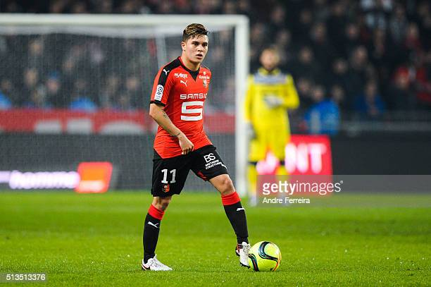 Juan Fernando Quintero of Stade Rennais during the French Ligue 1 match between Stade Rennais and Gazelec Ajaccio at Roazhon Park on January 22 2016...