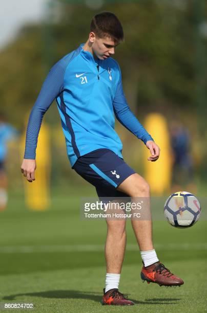Juan Foyth of Tottenham during the Tottenham Hotspur training session at Tottenham Hotspur Training Centre on October 12 2017 in Enfield England