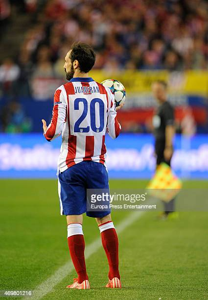 Juan Fran during the UEFA Champions League Quarter Final First Leg match between Club Atletico de Madrid and Real Madrid CF at Vicente Calderon...