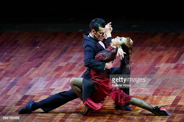Juan Francisco Segui and Maira Sanchez of Argentina dance during the Stage Tango Final as part of Buenos Aires Tango Festival World Championship 2016...
