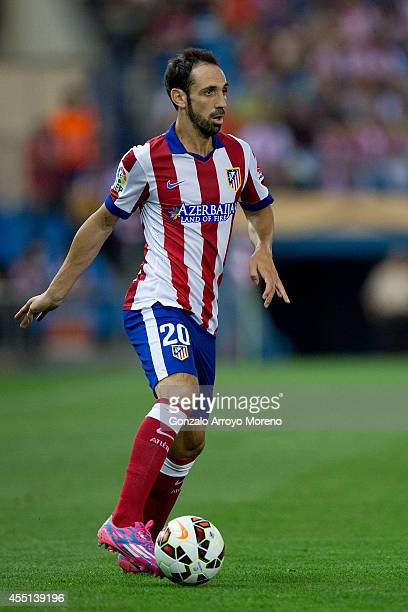 Juan Francisco Torres alias Juanfran of Atletico de Madrid controls the ball during the La Liga match between Club Atletico de Madrid and SD Eibar at...