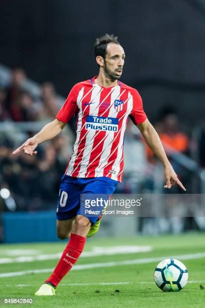 Juan Francisco Torres Belen Juanfran of Atletico de Madrid in action during the La Liga 201718 match between Atletico de Madrid and Malaga CF at...
