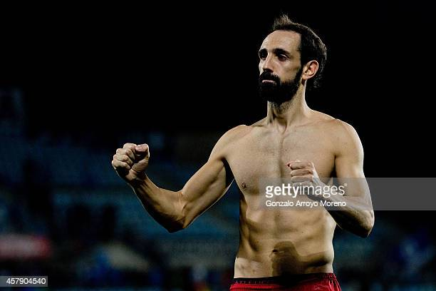 Juan Francisco Torres of Atletico de Madrid gestures after the La Liga match between Getafe CF and Club Atletico de Madrid at Coliseum Alfonso Perez...