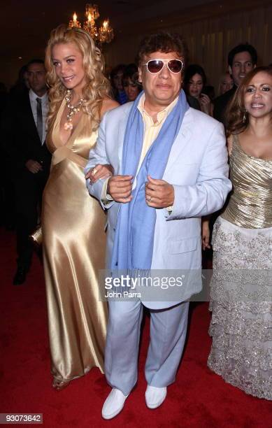 Juan Gabriel arrives at Sammy Sosa birthday party at Fontainebleau Miami Beach on November 14 2009 in Miami Beach Florida