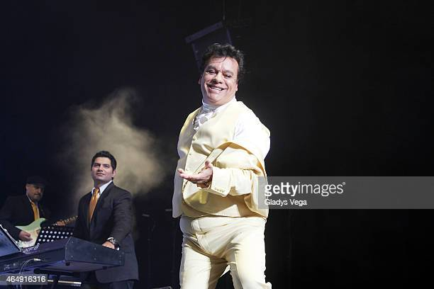 Juan Gabriel performs as part of his 'Volver 2015' tour at Coliseo Jose M Agrelot on March 1 2015 in San Juan Puerto Rico