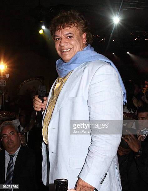 Juan Gabriel performs at Sammy Sosa's birthday party at Fontainebleau Miami Beach on November 14 2009 in Miami Beach Florida