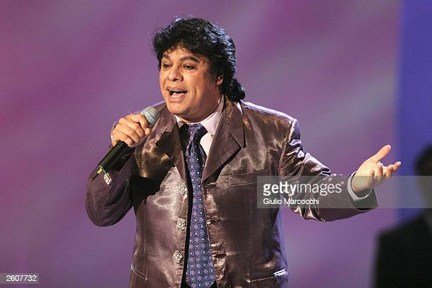 Juan Gabriel performs at the 'el Premio de la Gente 2003' Latin Music Fan Awards at the Mandalay Bay Hotel on October 16 2003 in Las Vegas Nevada