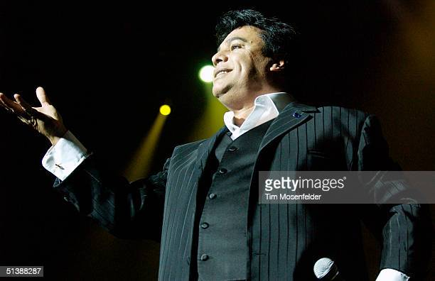 Juan Gabriel performs in support of his 'Grandes Exiros' release at HP Pavilion on October 3 2004 in San Jose California