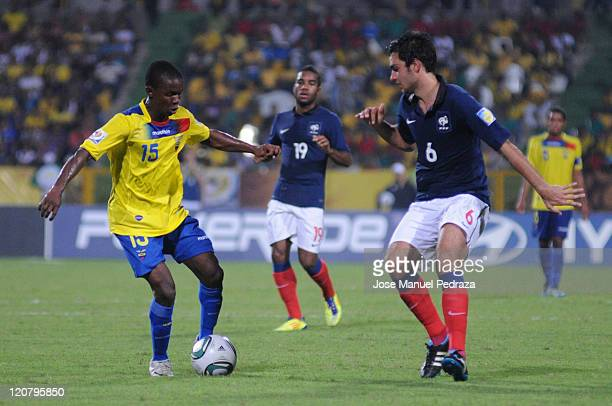 Juan hunt contests the ball with Ecuador GRENIER Clement of France in the knockout game France vs Ecuador during the World Under 20 World Cup in the...