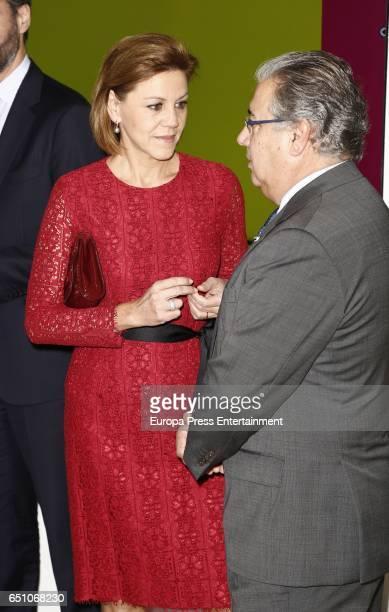 Juan Ignacio Zoido and Maria Dolores de Cospedal attend IX ABC Bullfighting Award at Casa de ABC on March 9 2017 in Madrid Spain