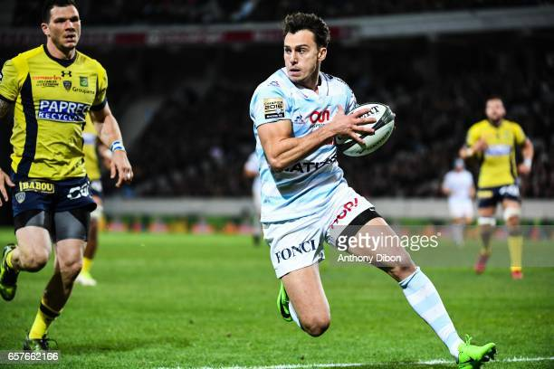 Juan Imhoff of Racing 92 during the Top 14 match between Racing 92 and Clermont Auvergne at Stade PierreMauroy on March 25 2017 in Lille France