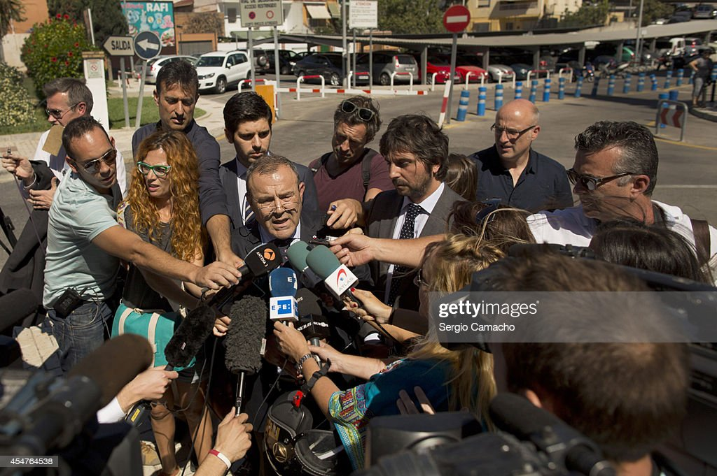 Juan Isidro Fernandez Diaz, Spanish lawyer for British couple Brett and Naghemeh King speaks to the press outside of the Materno Infantil Hospital before the meeting with the parents of Ashya, hospital officials and authorities of the Government of the United Kingdom on September 6, 2014 in Madrid, Spain. A private jet is expected to take Ashya King, the five-year-old brain tumour patient, to Prague for proton beam radiotherapy to treat his brain tumour.