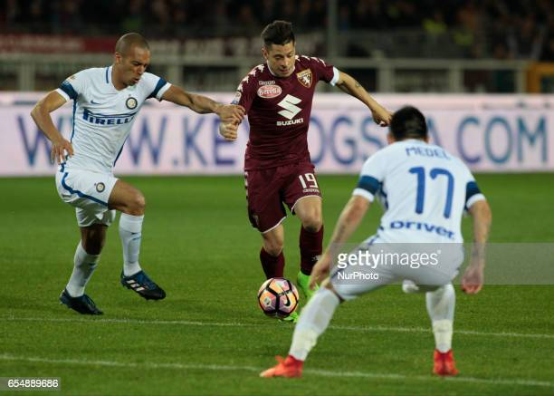 Juan Iturbe in action during the Serie A match between FC Torino and FC Internazionale at Stadio Olimpico di Torino on March 18 2017 in Turin Italy