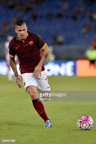 Juan Iturbe in action for Roma during the Italian Serie A match between AS Roma and FC Carpi at Stadio Olimpico in Rome on September 26 2015