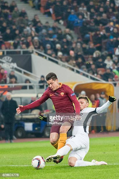 Juan Iturbe of AS Roma during the UEFA Europa League 20162017 Group E game between FC Astra Giurgiu and AS Roma at National Arena Bucharest Romania...