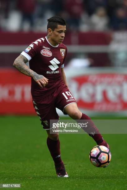 Juan Iturbe of FC Torino in action during the Serie A match between FC Torino and Udinese Calcio at Stadio Olimpico di Torino on April 2 2017 in...