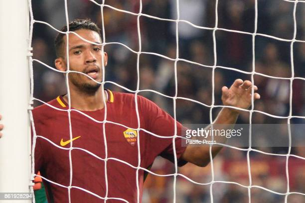 Juan Jesus during the Italian Serie A football match between AS Roma and SSC Napoli at the Olympic Stadium in Rome on october 14 2017