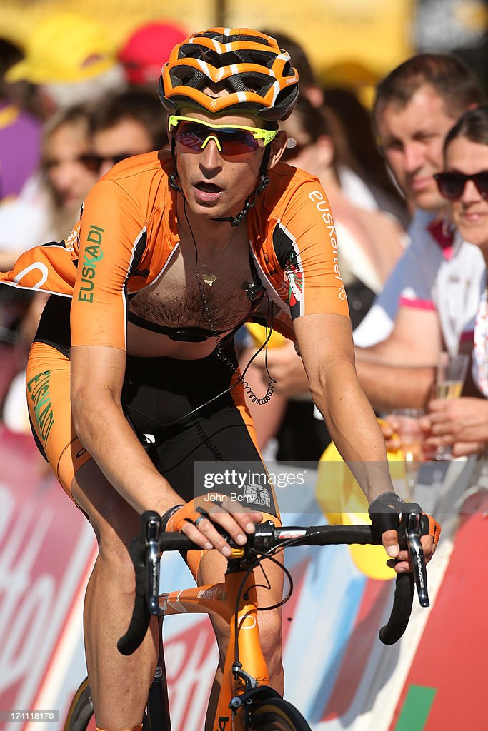 Juan Jose Oroz of Spain and Team EuskaltelEuskadi finishes stage twenty of the 2013 Tour de France a 125KM road stage from Annecy to AnnecySemnoz on...