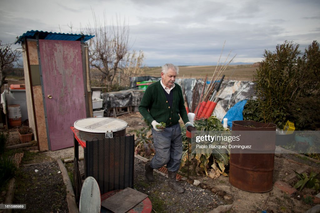 Juan Lorenzo Blazquez, 63, works on the allotment which he has owned since 1993, and which now stands on part of the site proposed as the location for the new 'Eurovegas' complex on February 10, 2013 in Alcorcon, near Madrid, Spain. Controversial plans have been given the go ahead for the Las Vegas Sands Corporation to build Europe's biggest casino and conference centre on the outskirts of Madrid bringing thousands of much needed jobs for the Spanish economy. As multi billionaire investor Sheldon Adelson's announced his plans protestors were claiming that the 36,000 room hotel complex would bring gambling addiction, criminal activity, prostitution and environmental damage to the area.