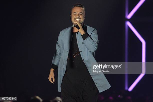 Juan Magan performs on stage during the Los 40 Music Awards 2016 at Palau Sant Jordi on December 1 2016 in Barcelona Spain