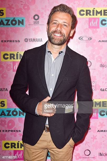 Juan Manuel Bernal attends the premiere of the play Crimenes del Corazon at Hellenic Theatre on March 06 2014 in Mexico City Mexico