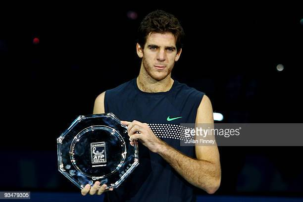 Juan Martin Del Potro of Argentina poses for a picture after he lost the men's singles final match against Nikolay Davydenko of Russia during the...