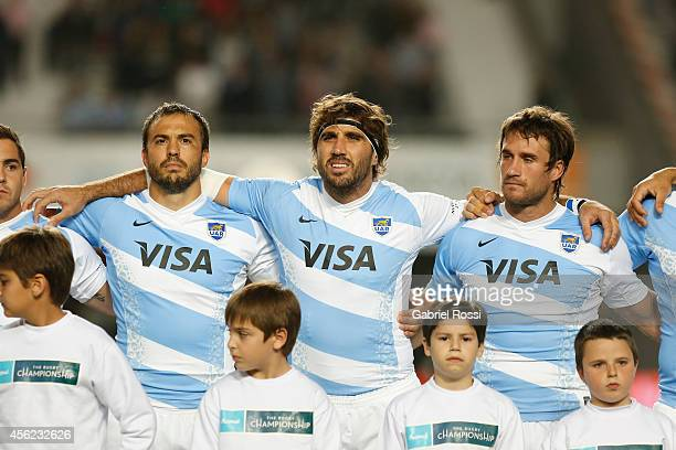 Juan Martin Fernandez Lobbe of Argentina during the line up prior to a match between Argentina Los Pumas and New Zealand All Blacks as part of fifth...
