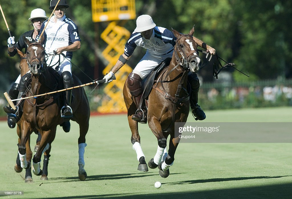 Juan Martin Nero of La Dolfina in action during a polo match between La Dolfina and Ellerstina as part of the 119th Argentina Open Polo Championship Final on December 08, 2012 in Buenos Aires, Argentina.