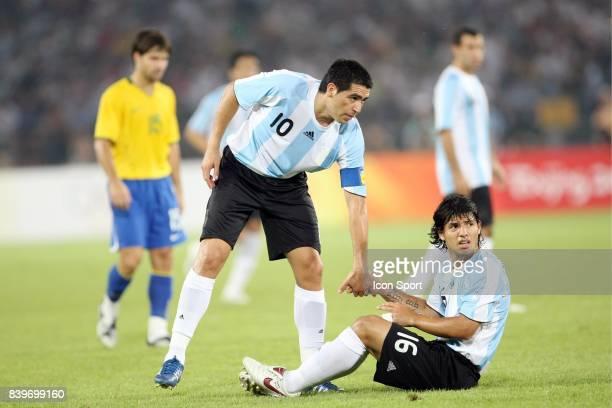 Juan Martin RIQUELME / Sergio AGUERO Bresil / Argentine 1/2 Finale Jeux Olympiques Pekin 2008