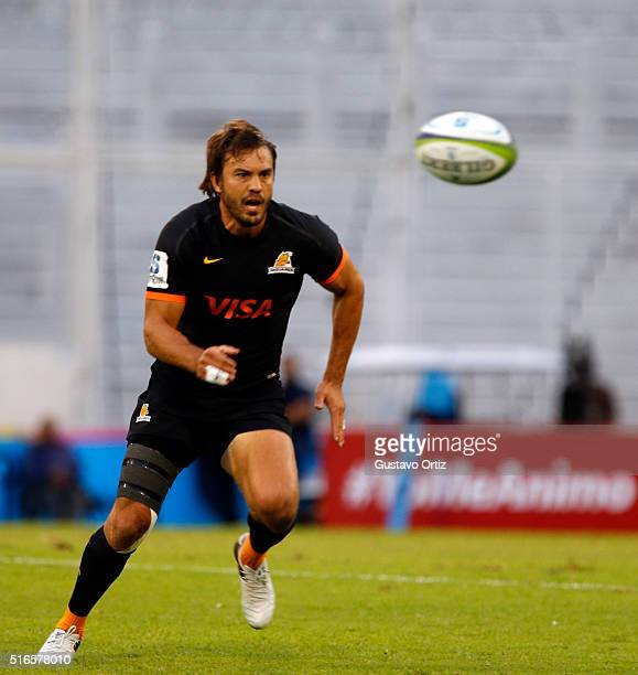 Juan Martín Hernández of Jaguares in action during the 2016 Super Rugby match between Jaguares and Chiefs at Jose Amalfitani Stadium on March 19 2016...