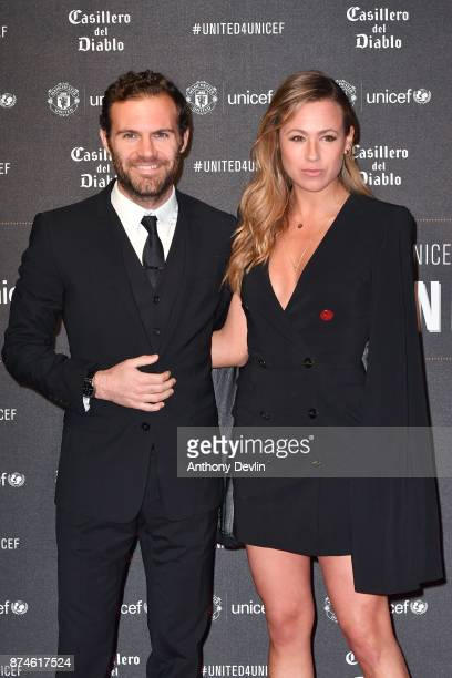 Juan Mata and Evelina Kamph attend the United for Unicef Gala Dinner at Old Trafford on November 15 2017 in Manchester England