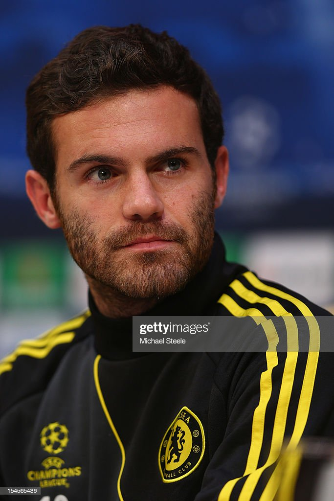 Juan Mata during the Chelsea Press Conference ahead of the UEFA Champions League Group E match between Shakhtar Donetsk and Chelsea at Donbass Arena on October 22, 2012 in Donetsk, Ukraine.