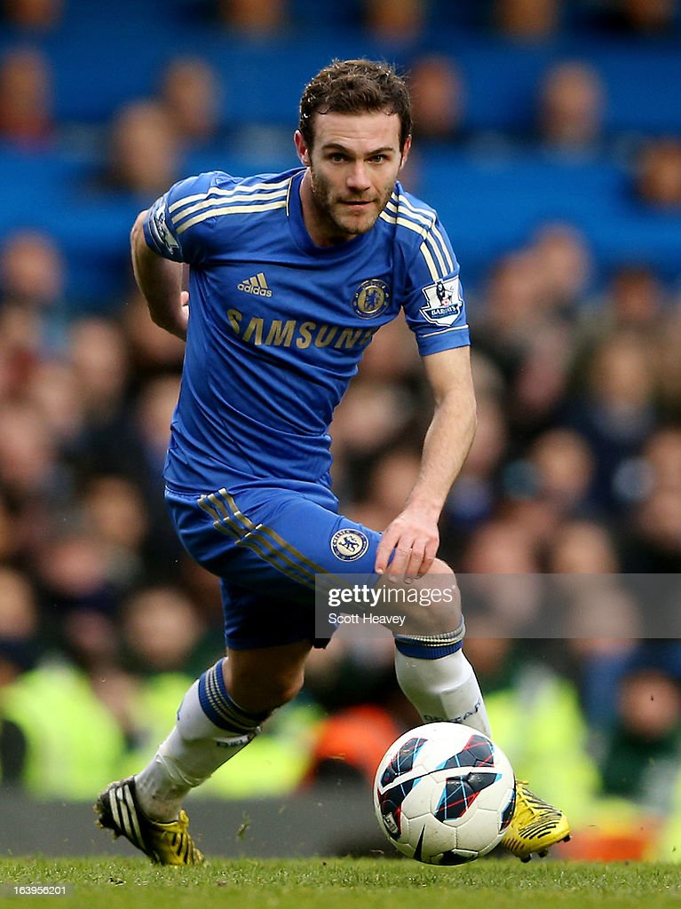 Juan Mata of Chelsea in action during the Barclays Premier League match between Chelsea and West Ham United at Stamford Bridge on March 17, 2013 in London, England.