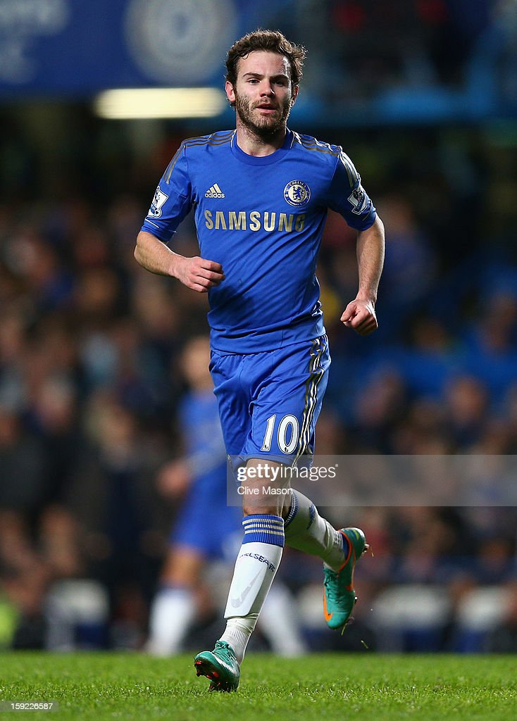 Juan Mata of Chelsea looks on during the Capital One Cup Semi-Final first leg match between Chelsea and Swansea City at Stamford Bridge on January 9, 2013 in London, England.