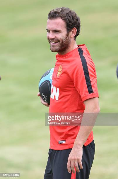 Juan Mata of Manchester United in action during a first team training session as part of their preseason tour of the United States on July 20 2014 in...