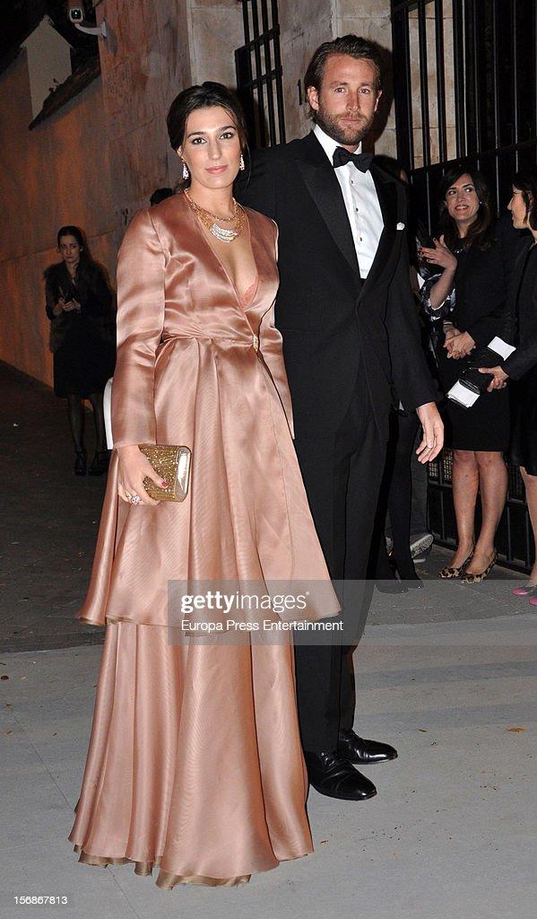 Juan Melgarejo and Eugenia Ortiz arrive at Marie Claire Prix de la Moda Awards 2012 on November 22, 2012 in Madrid, Spain.
