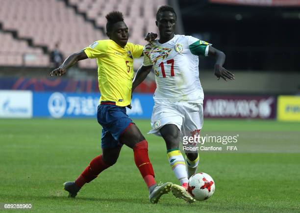 Juan Nazareno of Ecuador and Krepin Diatta of Senegal competes for the ball during the FIFA U20 World Cup Korea Republic 2017 group F match between...