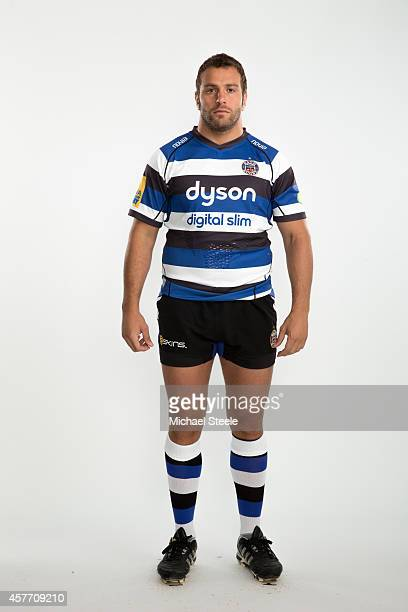 Juan Orlandi of Bath poses for a picture during the BT Photo Shoot at Farleigh House on August 28 2014 in Bath England