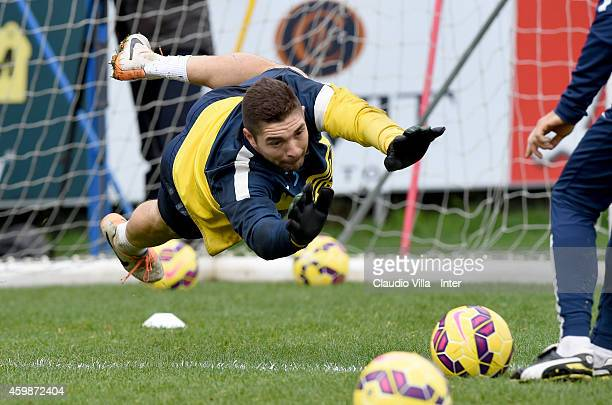 Juan Pablo Carrizo during FC Internazionale Training Session at Appiano Gentile on December 03 2014 in Como Italy
