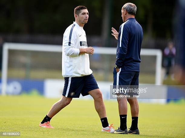 Juan Pablo Carrizo during of FC Internazionale Milano training session on July 9 2014 in Pinzolo near Trento Italy