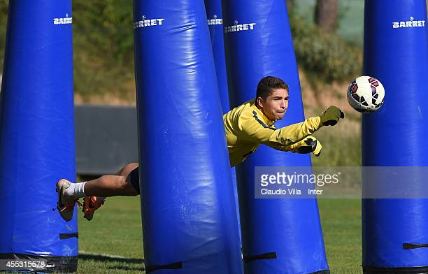 Juan Pablo Carrizo during the FC Internazionale Training Session at Appiano Gentile on September 12 2014 in Como Italy