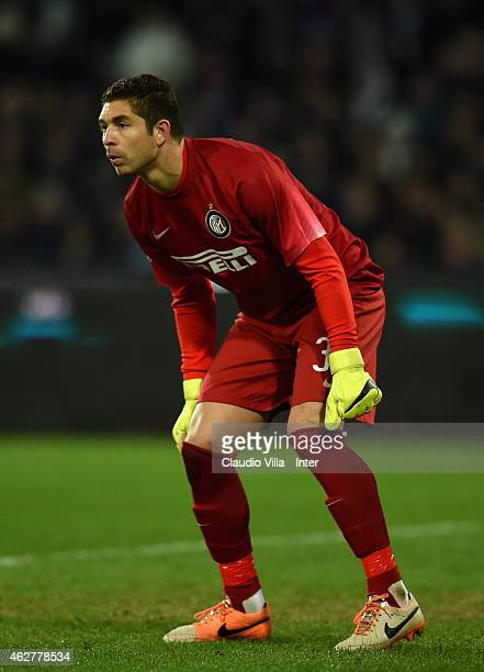 Juan Pablo Carrizo of FC Internazionale during the TIM Cup match between SSC Napoli and FC Internazionale at Stadio San Paolo on February 4 2015 in...