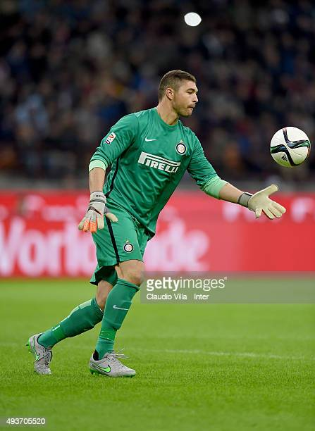 Juan Pablo Carrizo of FC Internazionale in action during the Berlusconi Trophy match between AC Milan and FC Internazionale at Stadio Giuseppe Meazza...