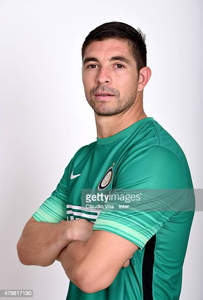 Juan Pablo Carrizo of FC Internazionale poses for his Serie A 20152016 season official headshot at Riscone di Brunico on July 7 2015 in Bruneck Italy
