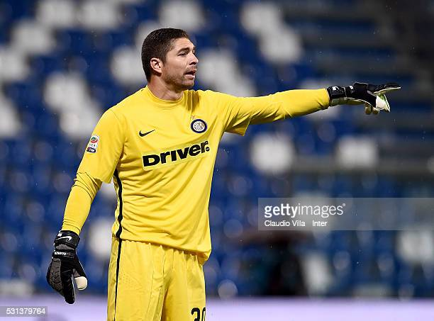 Juan Pablo Carrizo of FC Internazionale reacts during the Serie A match between US Sassuolo Calcio and FC Internazionale Milano at Mapei Stadium...