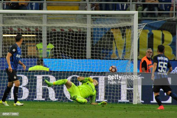 Juan Pablo Carrizo of Inter goalkeeper in action during Serie A football Inter Milan versus Udinese Inter wins last match of Serie A for 52 against...