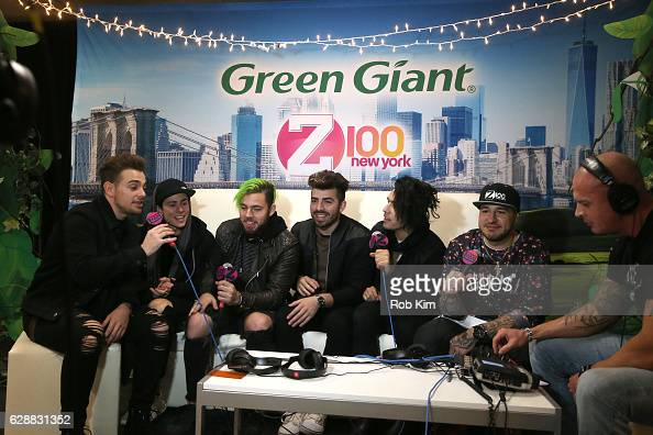 Juan Pablo Casillas Matt Rey Tomas Slemenson Hector Rodriguez Ismael Cano Jr speak with Mo' Bounce at Z100 CocaCola All Access Lounge at Z100's...